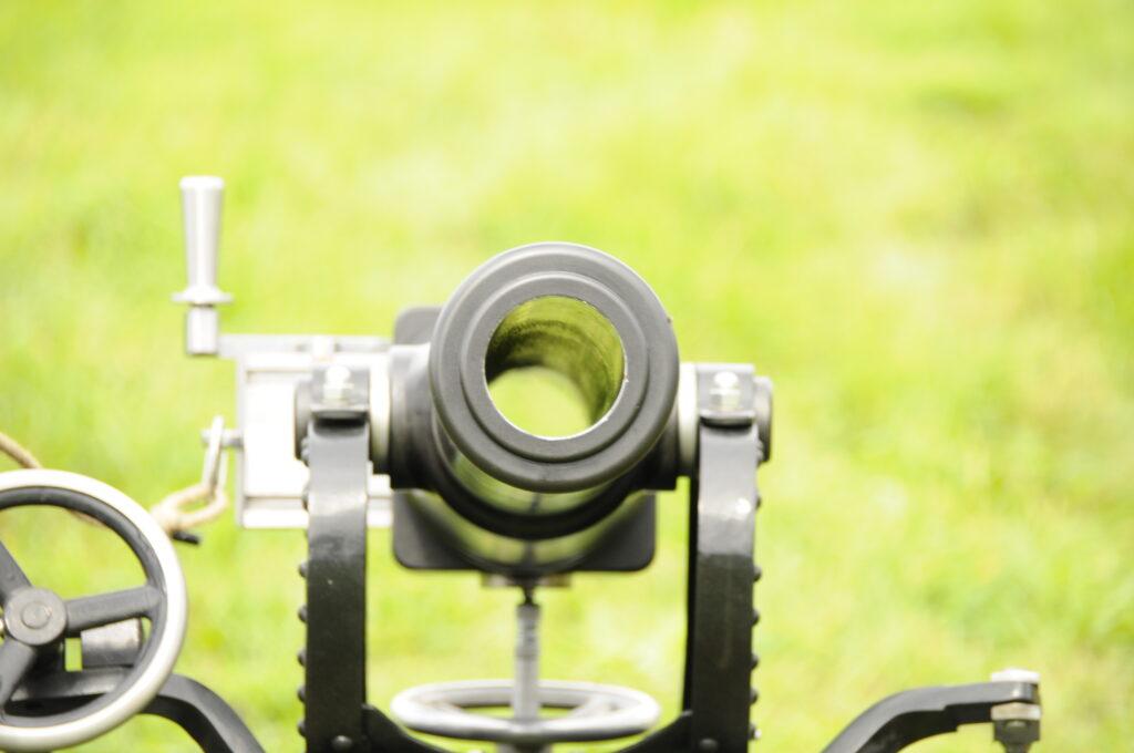 Bild Lauf Salutkanone mit offenem Verschluß